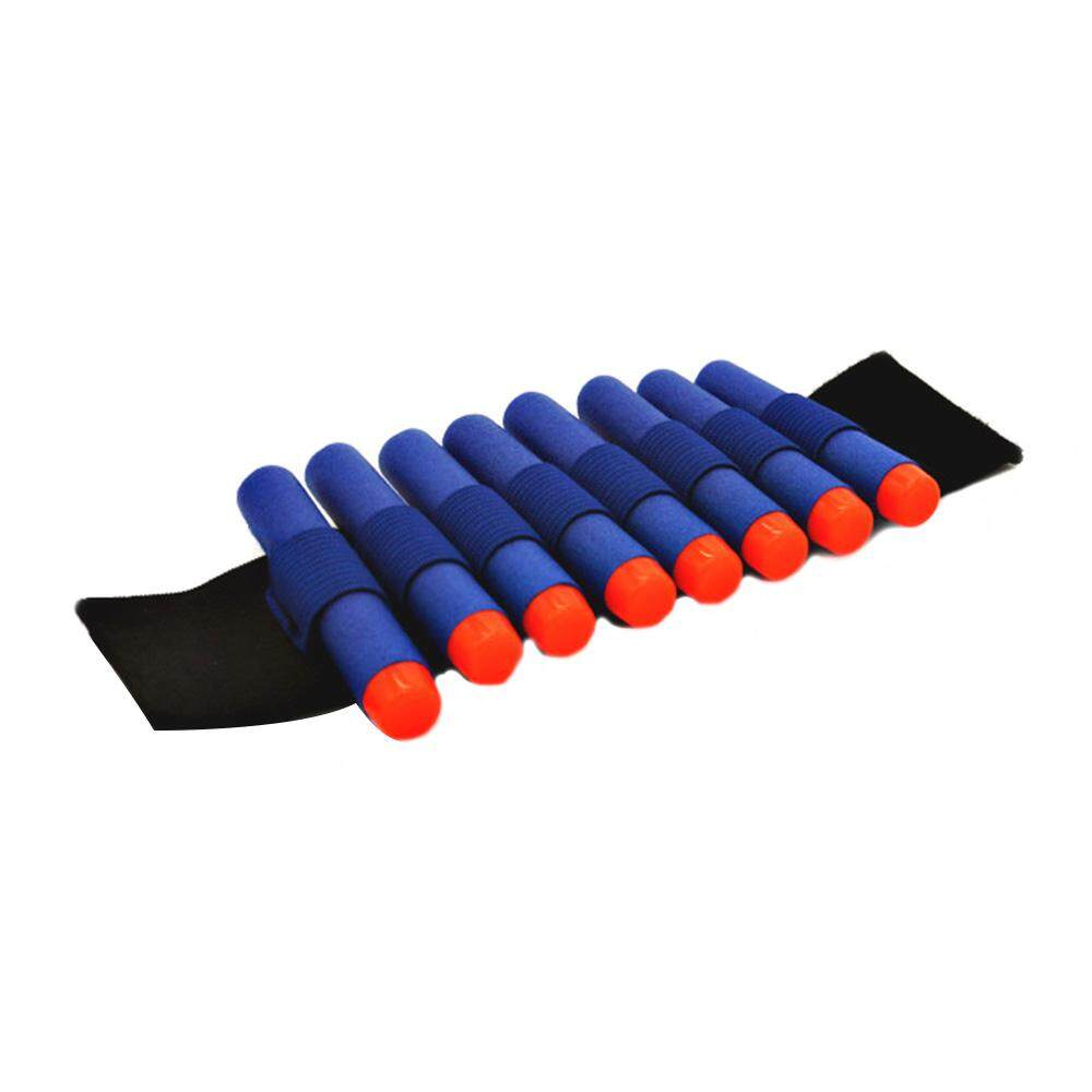 Elastic wrist band storage soft bullets toy Gun For Nerf Comes with 9 Bullets