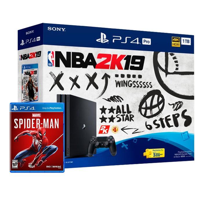 【PS4】PS4 Pro NBA 2K19同捆組 + 漫威蜘蛛人(4/15-5/19期間限定)