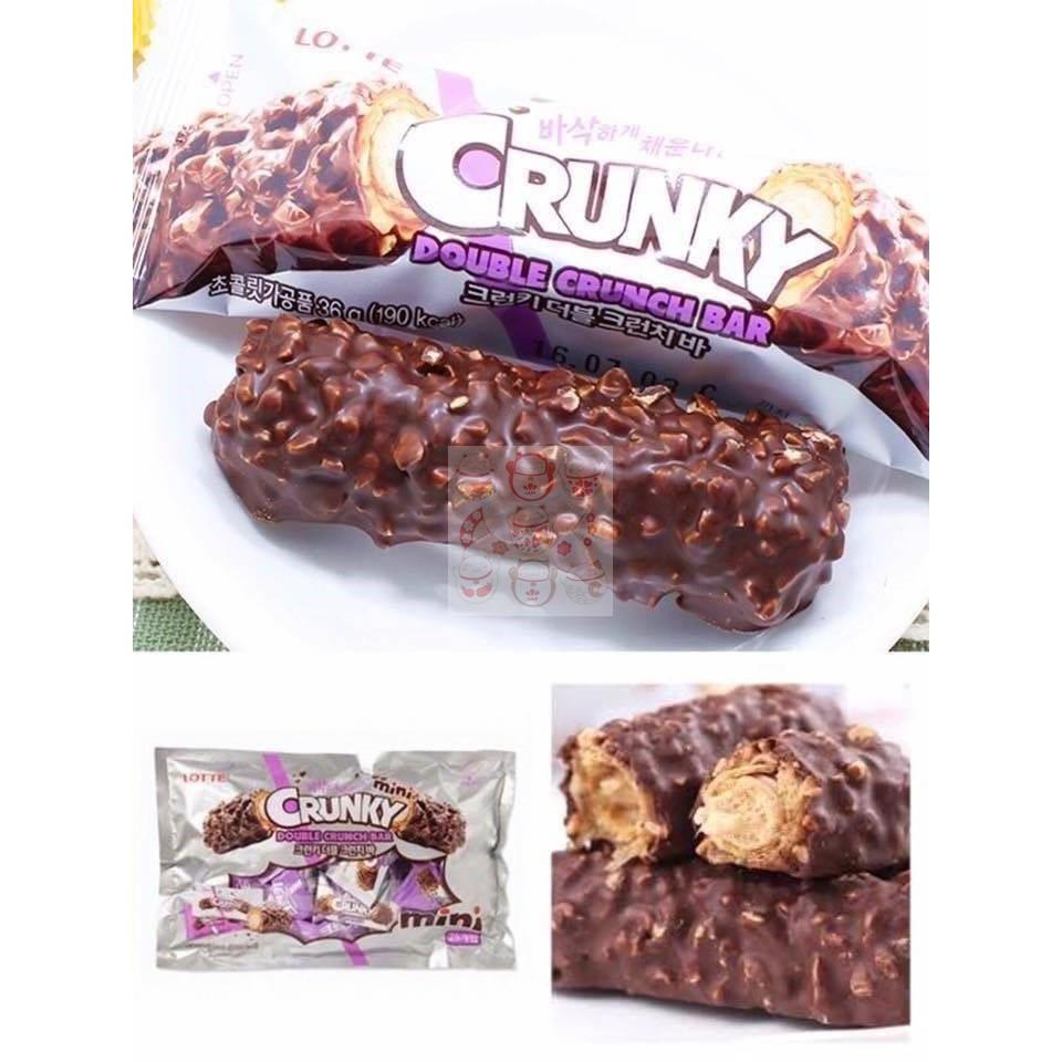 *暖陽生活* 韓國連線商品 樂天 CRUNKY MINI巧克力棒