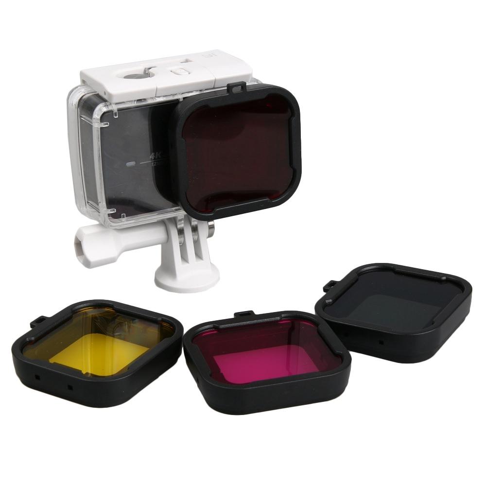 小米小蟻4K 運動相機二代 濾鏡 紅色潛水濾鏡防水殼濾鏡