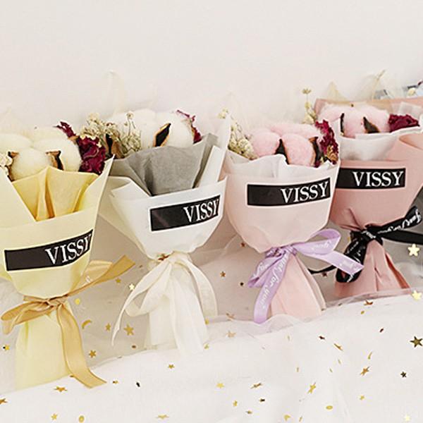 [現貨]VISSY永生花迷你花束 拍攝道具 乾燥花 木棉花 母親節【JI2288】《Jami Honey》