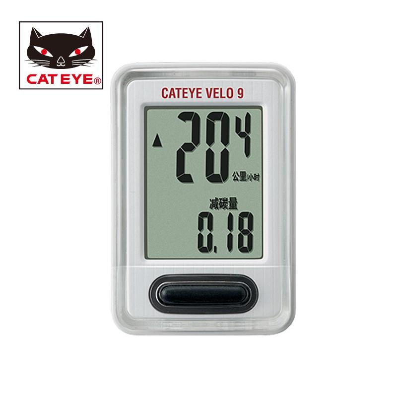 CATEYE貓眼騎行碼表里程表有線自行車碼表防水山地車中文大屏無線