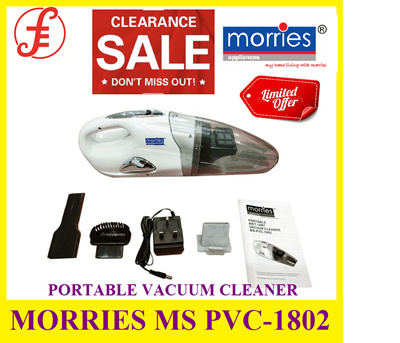 MORRIES MS PVC-1802 PORTABLE VACUUM CLEANER  1 YEAR WARRANTY