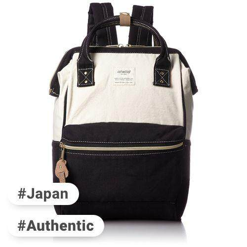 Anello anello (Anello) official mouthpiece denim backpack small AT-B0935B CBK (White × Black)