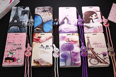 OPPO R11/R11 Plus、R9S/R9S Plus、R9/R9/ Plus     Painted lanyard stand case