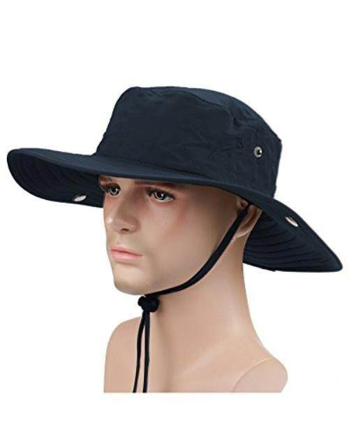 YOYEAH UPF50 + UV-cut safari hat adventure hat brim wide fashion hat hat Men - intl