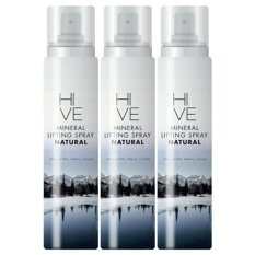 Hive Mineral Lifting Spray Mineral สเปรย์น้ำแร่ คุมมัน รูขุมขนกระชับ กลิ่นธรรมชาติ (145 ml. x 3 ขวด)