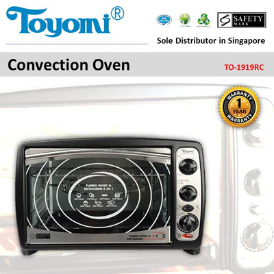 TOYOMI Convection Oven 19.0L [Model: TO 1919RC] - Official TOYOMI Warranty Set. 1 Year Warranty.