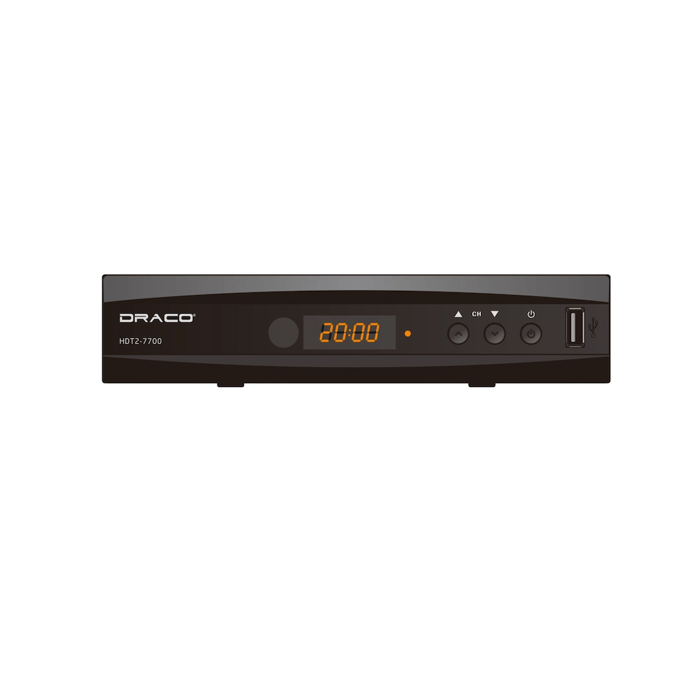 Draco HDT2-7700 High Definition Digital TV Receiver with Draco ANT900 Indoor Antenna