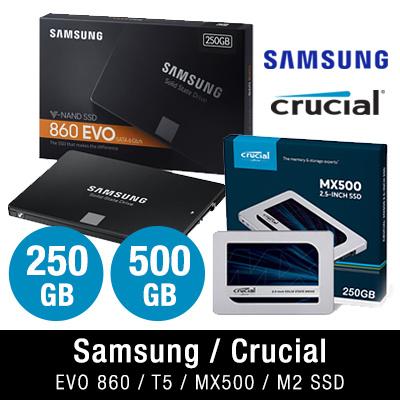 $45 $85 Samsung EVO 860 Crucial MX500 M2 NVMe SANDISK 250GB   500GB   1TB   2TB SSD