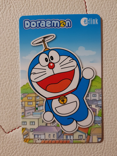 Doraemon ezlink card fly with $7 stored