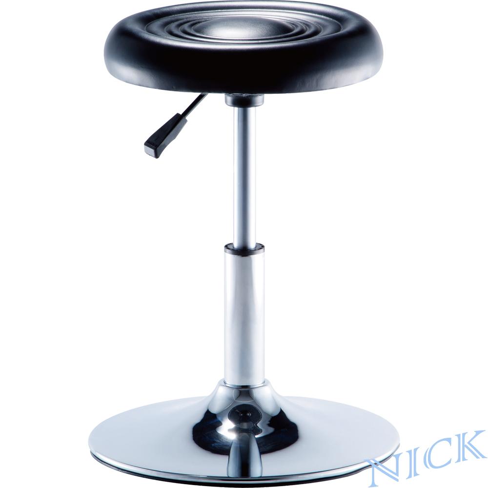 NICK 圓型電鍍腳吧檯椅(圓盤腳座/三色)