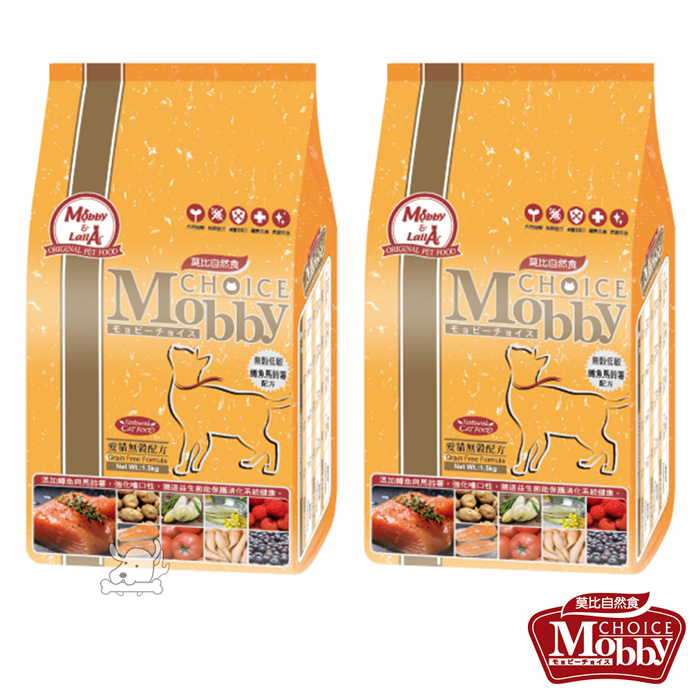 Mobby 莫比  鱒魚+馬鈴薯 愛貓無穀配方飼料 3公斤 X 2包
