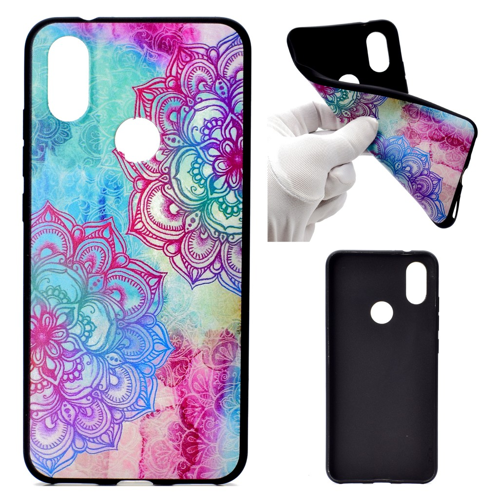 Huawei Nova 3i Case Soft TPU Cover Slim Painted Back Phone Cover With Lanyard