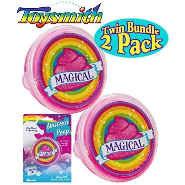 Toysmith Unicorn Poop Pink & Sparkly (Slime/Putty) Twin Set Bundle - 2 Pack - intl