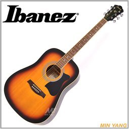 【民揚樂器】免運優惠 民謠吉他 Ibanez V50NJP VS 夕陽漸層 木吉他 41吋 買一送十配件組