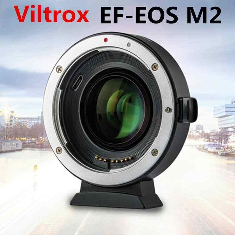 Finemall VILTROX EF-EOS M2 VILTROX EF-EOS M2 Auto Focus อะแดปเตอร์เลนส์ 0.71X สำหรับ Canon EF เลนส์ EOS-M50 M10