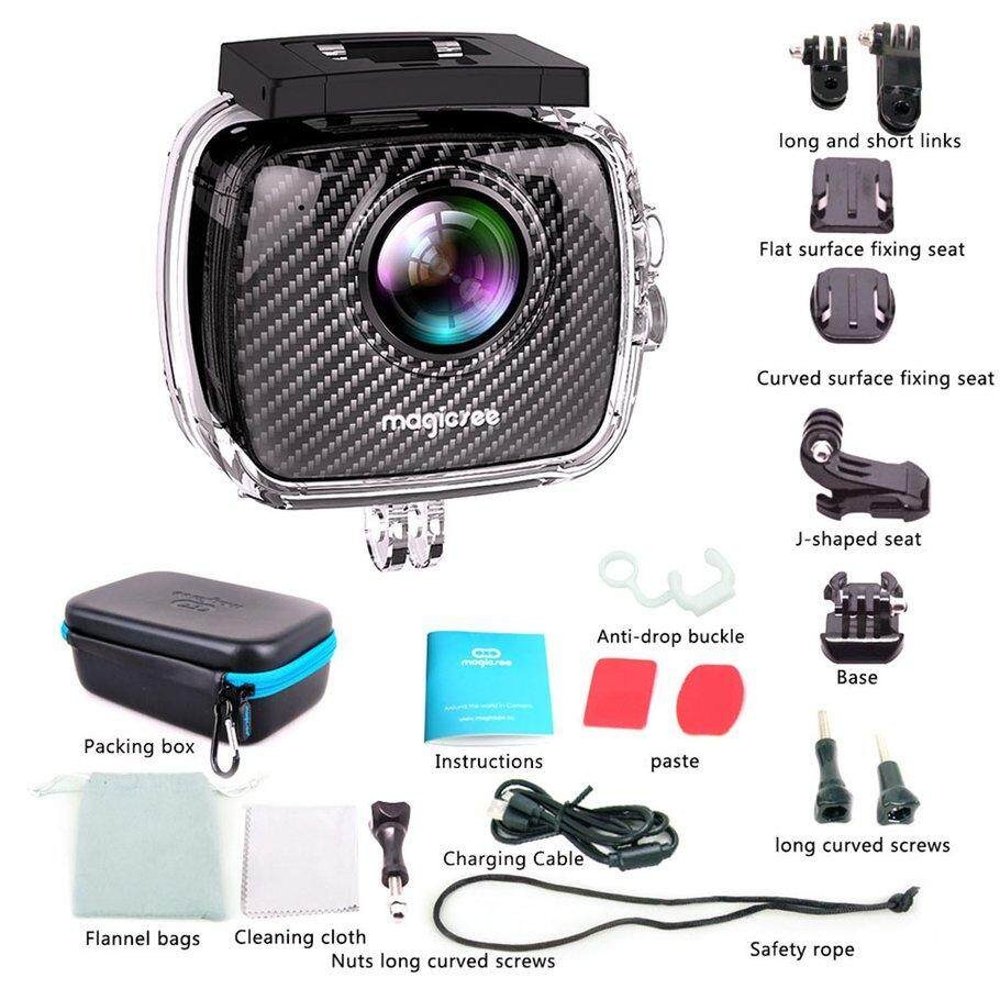 Magicsee P3 360 Panoramic Camera Dual Lens Waterproof Case Pro 16MP VR Camera