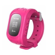 Q50 Kids Smart Watch GPS Tracker Watch Kids Smart Watch Remote Monitor SOS /GSM Tracker for Child (Pink)