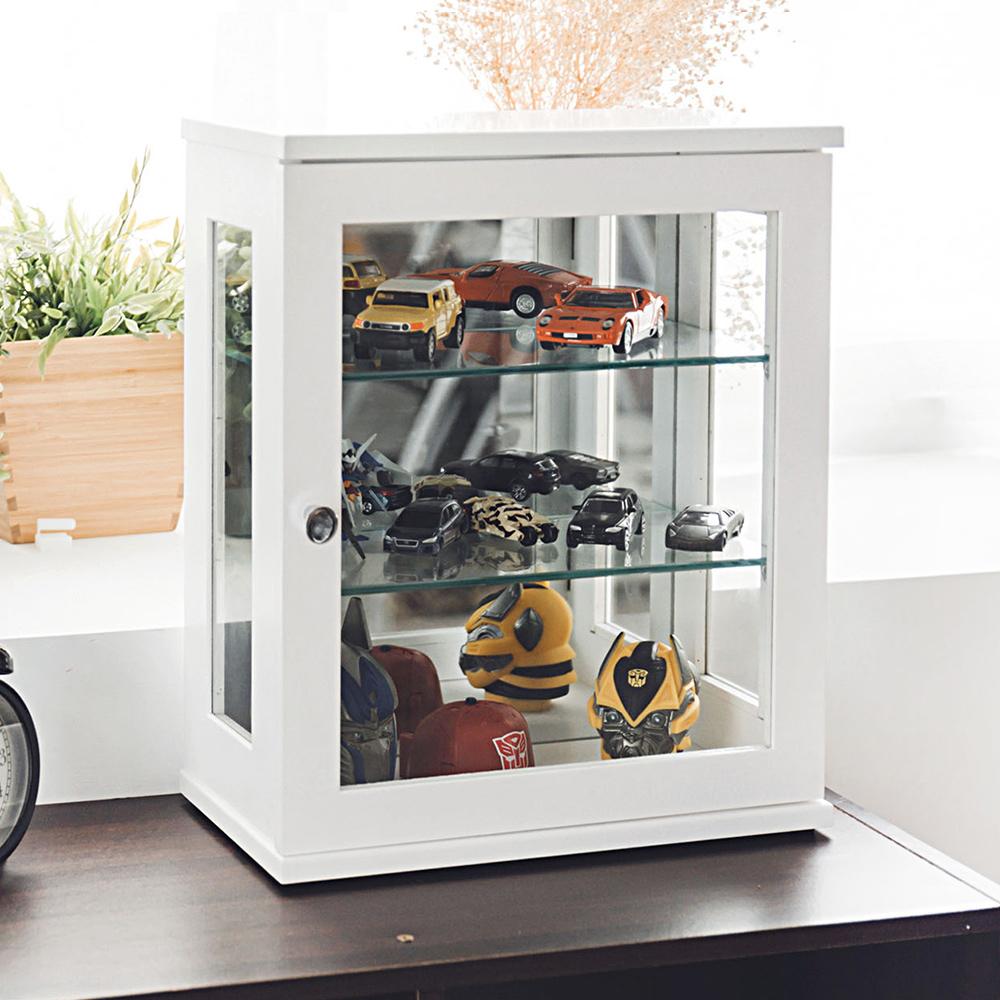 Home Feeling 玻璃展示櫃/桌上型/收納櫃/置物櫃-30x17X38