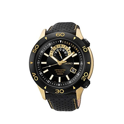 (Seiko Watches) Seiko Superior SSA188 Limited Edition Automatic Black Dial Black Leather Mens Wat...