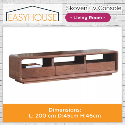 Skoven TV Console | Living Room | Wood with High Laminated Finishing