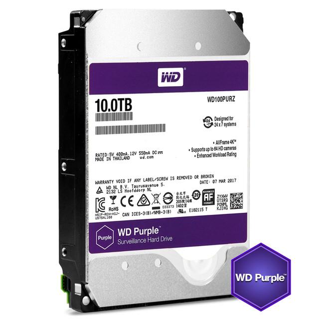 【WD 威騰】100PURZ 紫標 10TB 3.5吋監控系統硬碟
