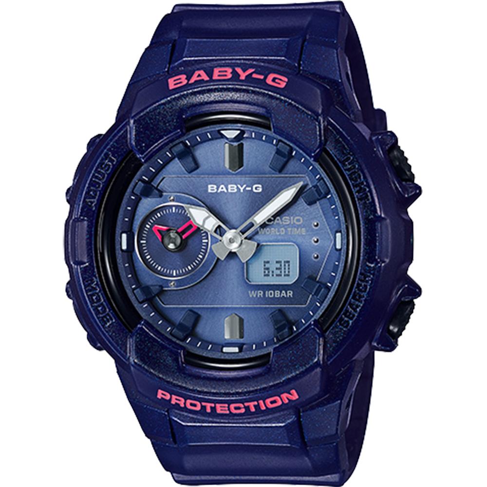 CASIO 卡西歐 Baby-G 旅行家世界時間手錶-海軍藍(BGA-230S-2A)