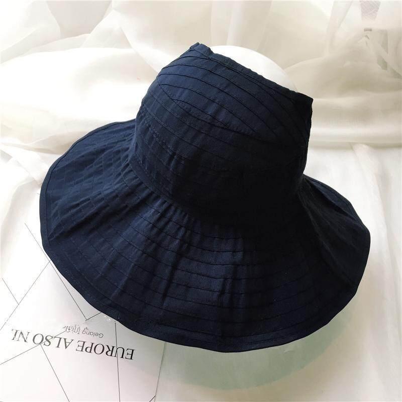 South Korea Summer Hat Folding Empty Top Hat Sunscreen Hat Female Anti Uv Cap Lady Sun Hat