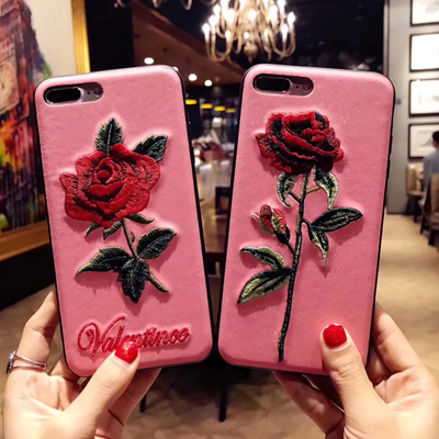 Embroidery case for iPhone 8 7 7 Plus IPhone6 6 Plus OPPO R11 R11 Plus OPPO R9S Plus OPPO R9