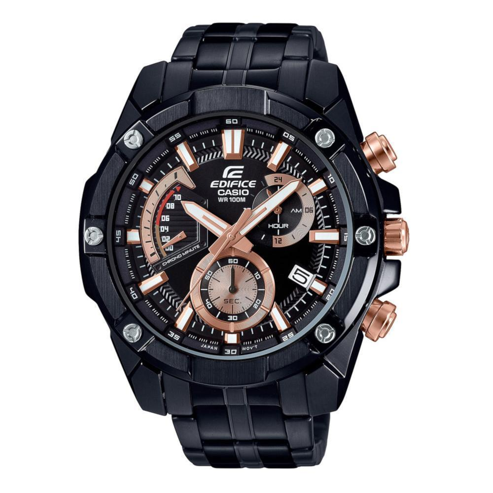 CASIO EDIFICE ANALOG EFR-559DC-1AVUDF STAINLESS STEEL BLACK MENS WATCH