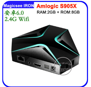 MAGICSEE IRON Network Player S905 TV BOX 2G+8G Android 6.0 TV Box