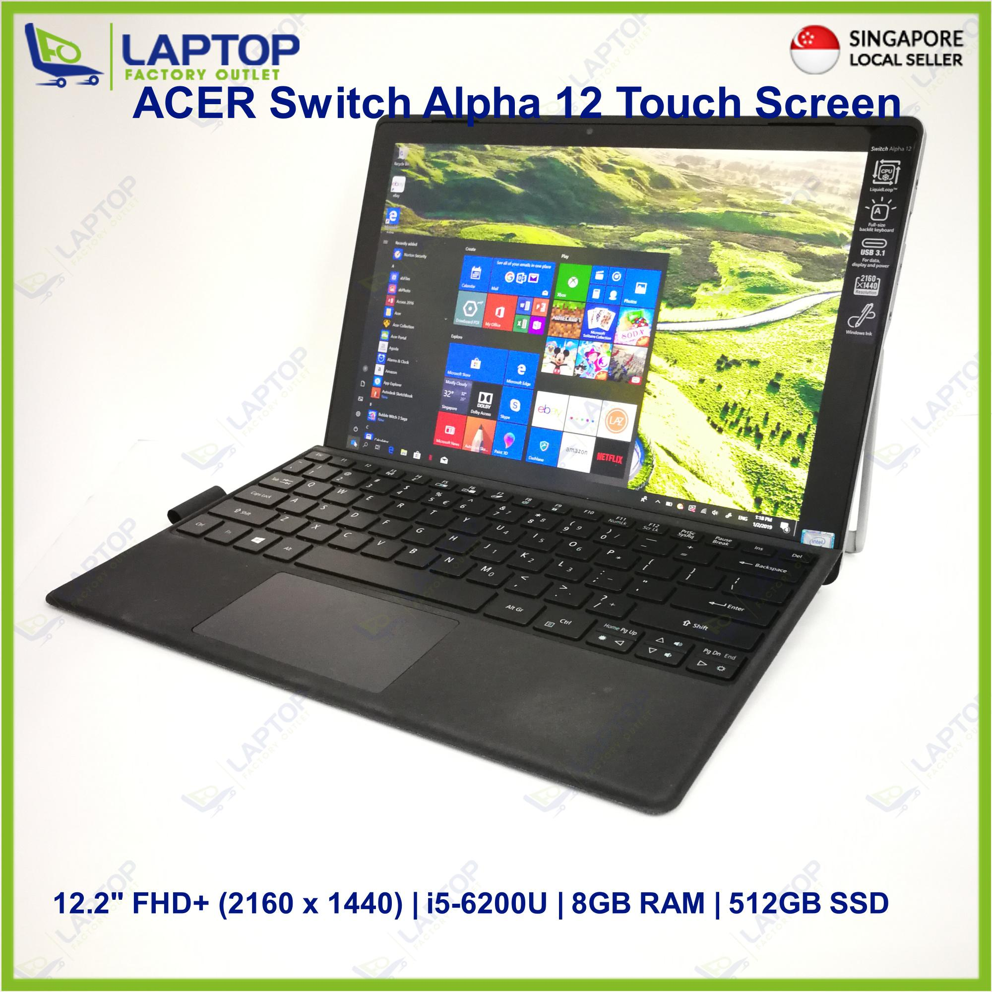 ACER Switch Alpha 12 Touch Screen (i5-6/8GB/512GB) [Premium Preowned]