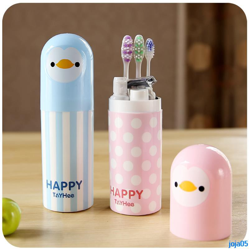 Value sale travel portable toothbrush box cartoon couple toothpaste box wash brush toothpaste toothbrush storage box wat