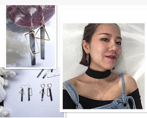 【Birdy Edge】歐美女性 設計 流蘇 線條 幾何 圓圈 耳環 耳墜耳環耳釘 首座 貝殼 耳環