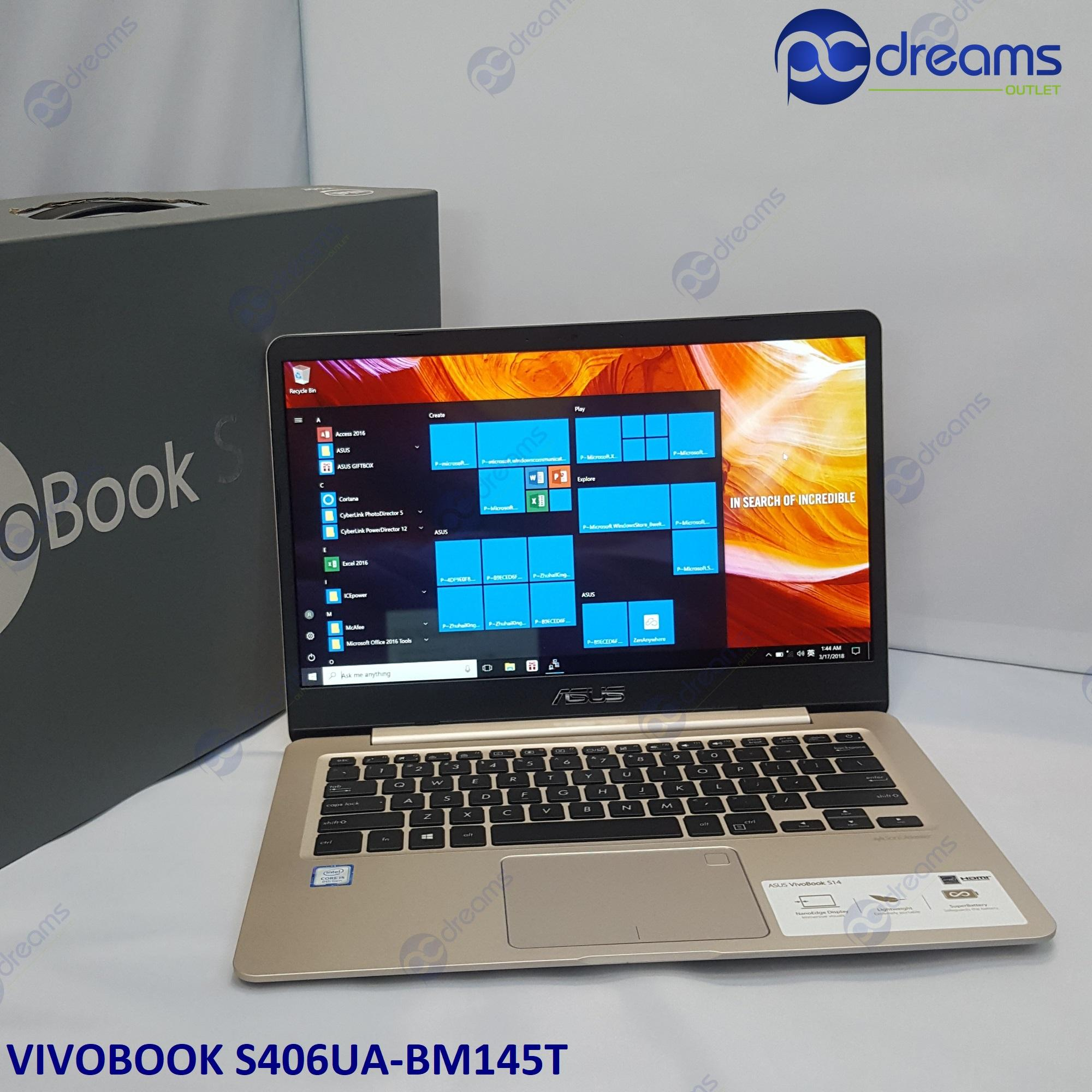 "ASUS VIVOBOOK S406UA-BM145T i7-8550U/8GB/512GB SSD/14.0"" FHD IPS [Premium Refreshed]"