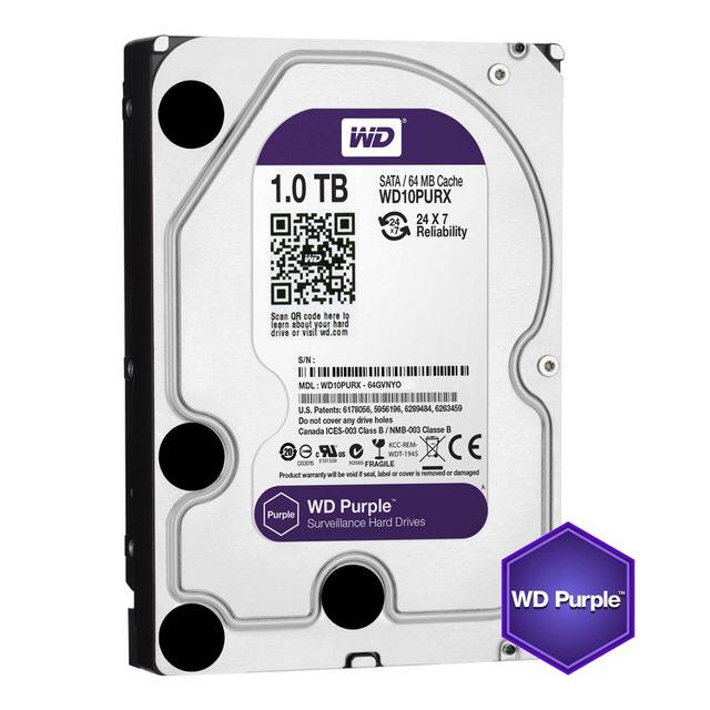【WD 威騰】10PURZ 紫標 1TB 3.5吋監控系統硬碟