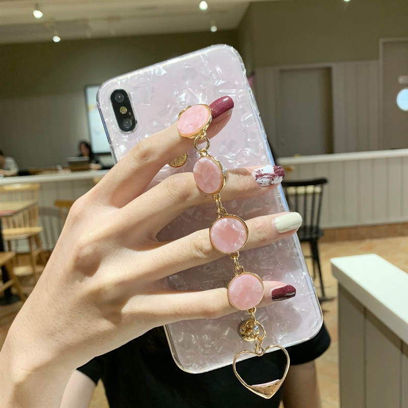 Shell chain tassel girl phone case OPPO R11 R11S R11 Plus R11S Plus
