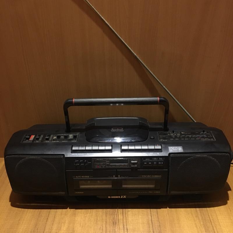 Victor G-HORN EX RC-X50手提音響 卡式收錄放音機 收音機 早期收音機 收音機 手提式錄音帶收音機