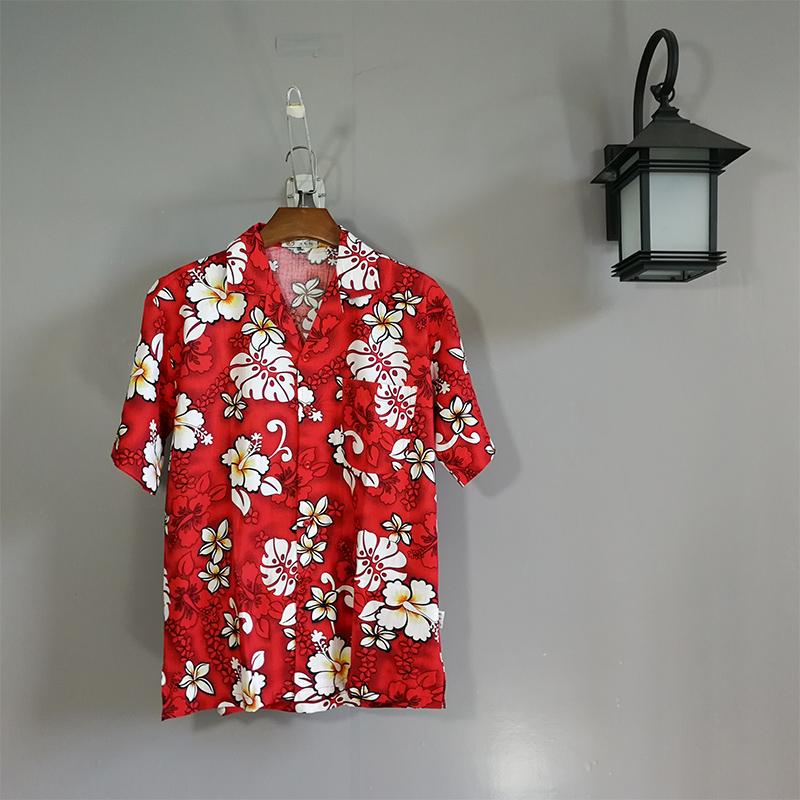 夢藍椰海南島服男士襯衣沙灘服三亞旅遊度假服飾 夏威夷花襯衫c09