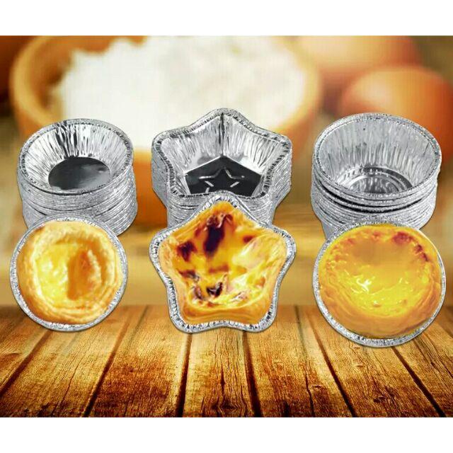 Chip烘焙 星星蛋撻 一次性蛋塔模15個 蛋撻模 蛋塔底托 一次性錫箔蛋塔模型 鋁箔紙 小蛋糕 五角星 星星蛋塔