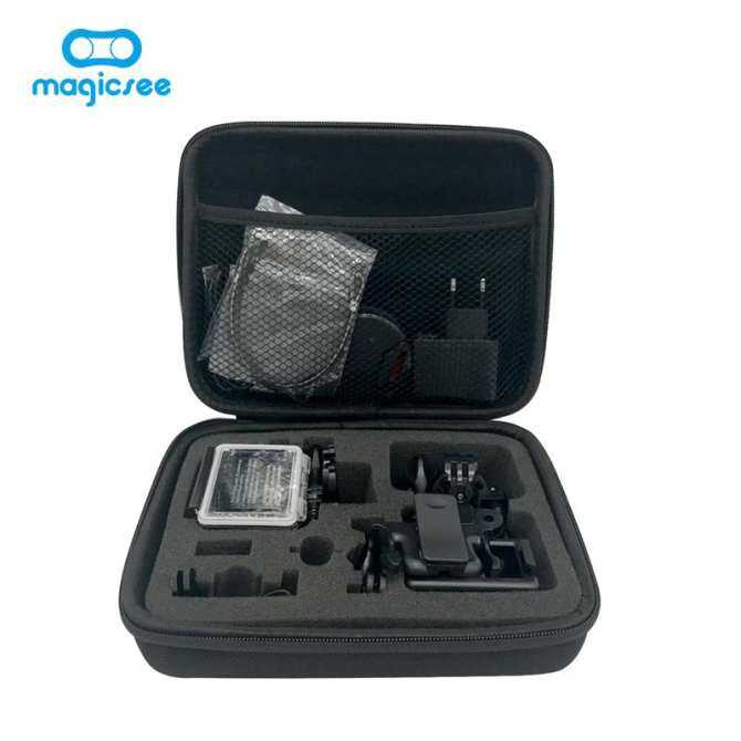 Magicsee Portable Shockproof Action Camera Bag Mid size 22*18*6cm portable bag for Magicsee GoPro EKEN H9R H3R 360 Camera
