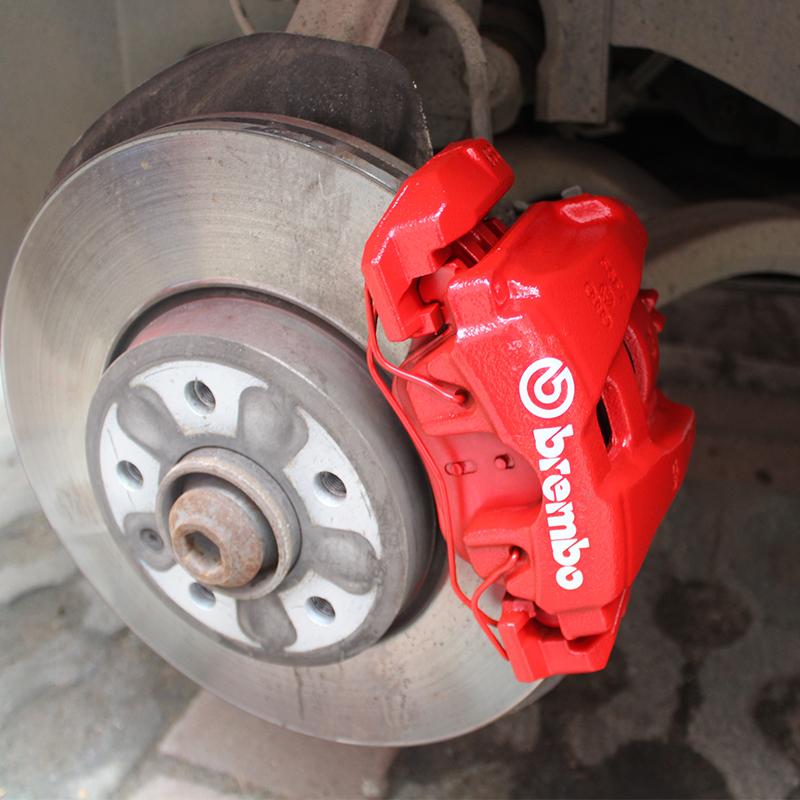 汽車剎車卡鉗貼紙高溫brembo貼紙個性改裝剎車鉗高溫漆改色自噴漆