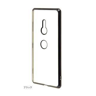 [現貨]Sony XPERIA XZ3 電鍍邊框透明保護殻-曜石黑日本Rasta Banana 原廠