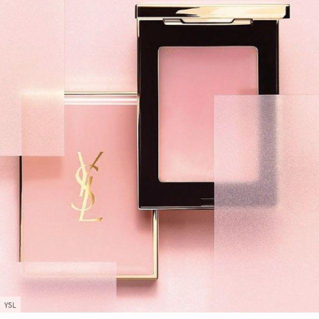 😊現貨😊YSL 奶油粉餅 粉紅色 YSL 小粉紅 超模聚焦柔膚奶油粉餅