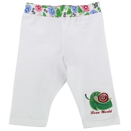 【愛的世界】LOVEWORLD 牽牛花系列 彈性緊身七分褲/1~3歲-台灣製-