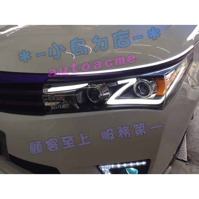 (小鳥的店) 豐田 2014-16 11代 X版 ALTIS 雙魚眼 大燈 Z型 閃電款 導光款 導光條 光導HID