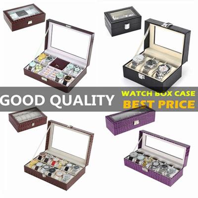 2/5/6/8/10/12 Slots Watch Storage Box/Jewelry Box/Crocodile Skin Watch Box/Luxury Watch Case/PVC Wat