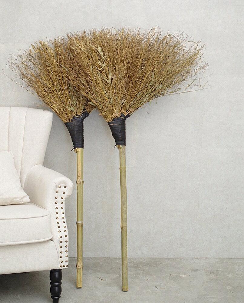 竹掃把環衛清潔硬毛掃帚手工大掃把室外馬路加厚庭院竹子植物掃把WD  電購3C