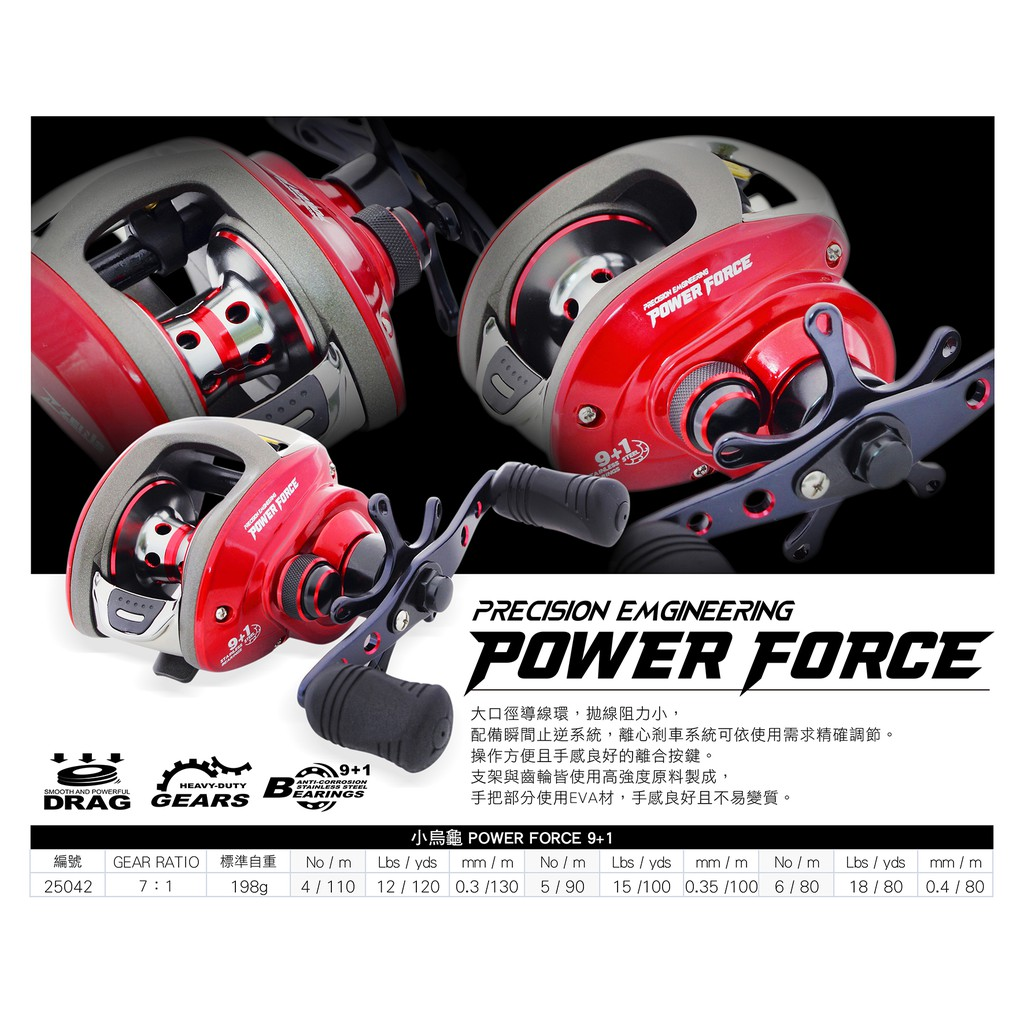 [ ZENIS ] 小烏龜POWER FORCE 9+1 鼓式捲線器 水滴輪